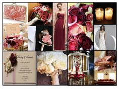 Champagne, blush, and wine colored wedding theme - this has potential to bring in lace. Super girly