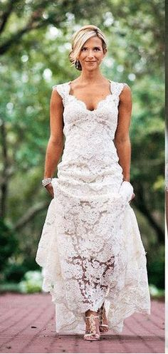 US$116.70-Beautiful Country Cap-sleeved V-neck Long Lace Wedding Dress with Open Back.  http://www.newadoringdress.com/country-cap-sleeved-v-neck-long-lace-dress-with-keyhole-back-pBU_708727.html.   Free Custom-made & Free Shipping! Shop lace wedding dress, strapless wedding dress, backless wedding dress, with sleeves, mermaid wedding dress, plus size wedding dress, We have great 2016 best Wedding Dresses on sale at #NewAdoringDress.com today!