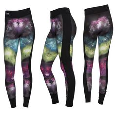 Quick dry. Single Jersey. Colorful print. Mid-rise waist. Regular fit. Space Pants #exercise #workoutwear #summer2015