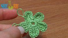 Crochet Flat Five-Petal Flower Tutorial 26 Part 1 of 2 (+playlist)