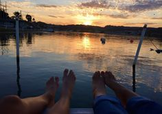 First ones out on the dock to enjoy a River Sunrise! Life at the River! www.TheHardyProject.com