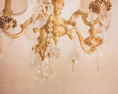 Golden Crystal Chandelier, Golden, Peach, Textured Hues, Elaborate Chandelier, Home Decor, For the Home, Art, Photography, fpoe, etsy