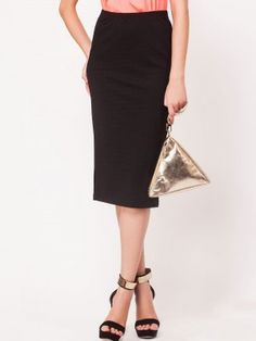 Arrow Panelled Pencil Skirt online purchase from koovs.com | buy ...