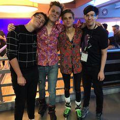Four gorgeous guys on one photo
