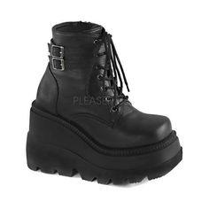 Women's Demonia Shaker 52 Ankle Boot Black Vegan Leather