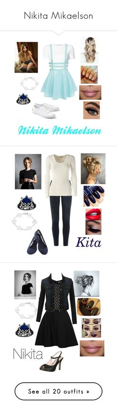 """""""Nikita Mikaelson"""" by ravenclawqueen1 on Polyvore featuring Rosetta Getty, Lacoste, J Brand, Michael Kors, Carven, Blossom, LE3NO, WearAll, Miu Miu and LASplash"""