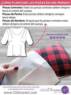 Si a la hora de coser no sabes hacia donde debes planchar las pinzas de tu ropa aquí te dejamos este sencillo esquema que te ayudará. Solo da click en la imagen para verla completa.