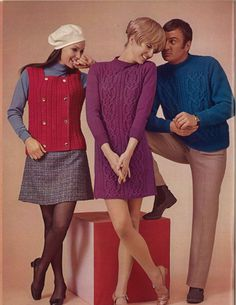 Bordeau Bateau • 1960s Sweater Dress Pullover Vest Patterns • 60s Vintage Cabled Ribbed Knitting Pattern • Retro Men's Women's Knit PDF by TheStarShop on Etsy