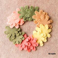 Die Cut Felt Flowers