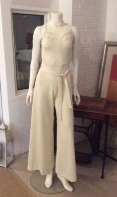 Cream-Crimplene-catsuit-60s-70s-True-Vintage