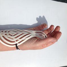 Peta Bush, Desktop 3D printed wrist support Filigree Jewelry, Jewelry Art, Fashion Jewelry, Jewellery, Wrist Brace, 3d Printed Jewelry, Peta, 3d Printing, Mobility Aids