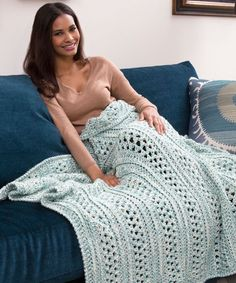 his is one of the coziest crochet afghan patterns around. Using a unique double weaving technique, you'll crochet two skeins of yarn together, creating a wonderfully chunky crochet afghan.