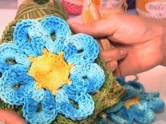 Flor Thais em crochê (passo a passo) - Cristina Luriko