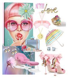 """April Love"" by rosalindmarshall ❤ liked on Polyvore featuring Miss Selfridge, Kate Spade, Ippolita, Rove Concepts, Lanvin, Miu Miu, Oravo, Charming Life, iCanvas and Sophia Webster"