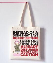 Aunty Acid Do Not Disturb Tote Bag