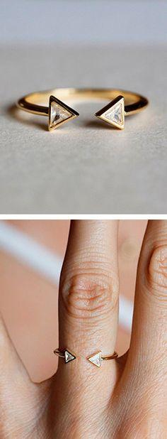 Open Geo Diamond Ring