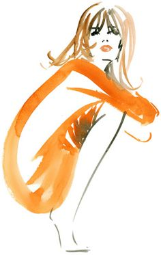 beautiful fashion illustrations by French artist Micheal Canetti  |  ://michelcanetti.com/  |  via Scrapbook blog - position of croquis