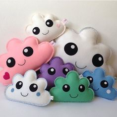 Soft Toy Patterns & Felt Plushie patterns by DreamyPatternsShop Plushie Patterns, Stuffed Toys Patterns, Sewing Crafts, Sewing Projects, Diy Bebe, Cloud Pillow, Baby Pillows, Baby Girl Gifts, Baby Decor