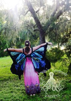 Dress up Butterfly Wings  ADULT SIZE  Made by UrsulaGlassGoddess
