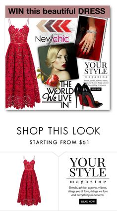 """""""Newchic contest"""" by tanja133 ❤ liked on Polyvore featuring Pussycat and Christian Louboutin"""