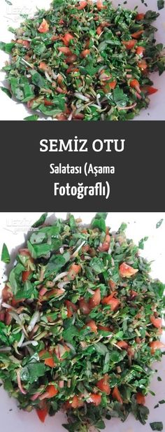 Semiz Otu Salatası (Aşama Fotoğraflı) Colored Hair Tips, Turkish Recipes, Diet And Nutrition, Hair Hacks, Salad Recipes, Curly Hair Styles, Pasta, Appetizers, Food And Drink