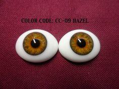 "Pabol SEL16 /""Baby Grey/"" 22MM Half Round Acrylic Doll Eyes"