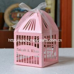 """Aliexpress.com : Buy laser cut 50 pcs of 8*8*11.5cm wedding favour boxes """"bird cage"""" personalized gift  box from Reliable personalized gift  box suppliers on Jinan Mery Arts And Crafts Co., Ltd."""