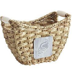 Buri Baskets with Ceramic Handles