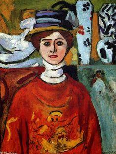 H. Matisse, Ragazza con occhi verdi, 1908, olio su tela, Museum of Modern Art, San Francisco