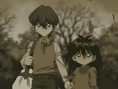 Little Kaiba and Mokuba [ aaaagh! they have the sweetest, cutest big brother and little brother relationship