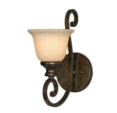 View the Golden Lighting 8063-1W Single Light Wall Sconce from the Heartwood Collection at LightingDirect.com.