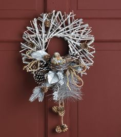 Twig Wreath With Bird // Christmas Wreath