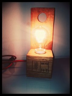 Pallet Lamp #Lamp, #Pallet