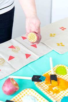 Dress Up Your Boring Napkins with This Easy DIY // photography by @Annawithlove Photography