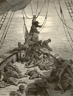 And water, water, every where, nor any drop to drink - Paul Gustave Dore - Plate 10 (Deschamps, engraver)
