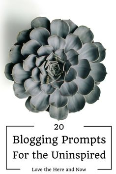 20 Blogging Prompts for the Uninspired