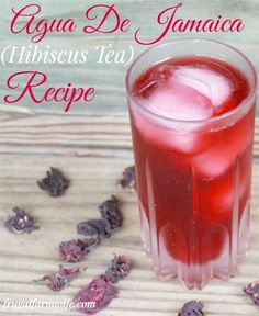 Agua De Jamaica Fresco Hibiscus Tea Recipe This is why we dont miss Koolaid in our house we have a fun deep red drink without the red 40 You can get hibiscus flowers in. Hibiscus Tea, Hibiscus Flowers, Yummy Drinks, Healthy Drinks, Juice Drinks, Mango Iced Tea, Iced Tea Recipes, Cocktail Recipes, Drink Recipes