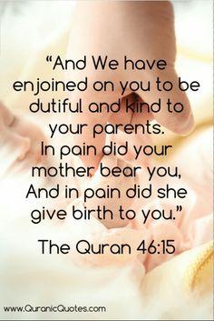 Mother love in quran