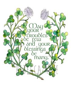 St Patricks Day Cards, St Patricks Day Quotes, Happy St Patricks Day, Clover Painting, Rock Painting, Irish Quotes, Irish Sayings, Quotes Quotes, Irish Proverbs