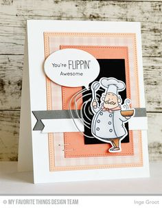 Recipe for Happiness, Recipe for Happiness Die-namics, Fishtail Flags STAX Die-namics, Scribbles Die-namics, Photo Booth Props Die-namics, Pierced Rectangle STAX Die-namics - Inge Groot  #mftstamps