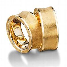 Außergewöhnliche Trauringe im individuellen Stil aus Gold - von Furrer-Jacot AG
