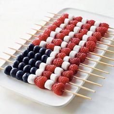 easy fourth of july recipes fruit kebabs in american flag shape