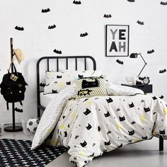 Adairs Kids Kapow Quilt Cover Set, kids bedlinen, superhero quilt cover that I got for Toby's room.its going to look great! Batman Kids Rooms, Batman Bedroom, Superhero Room, Superhero Quilt, Big Boy Bedrooms, Baby Boy Rooms, Kids Bedroom, Bedroom Decor, Bedroom Ideas