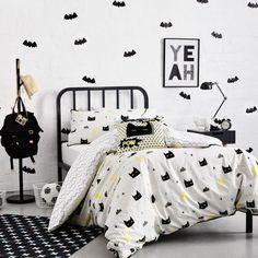 $90 Adairs Kids Kapow Quilt Cover Set, kids bedlinen, superhero quilt cover