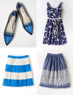 I just received the blue skirt at the bottom right from Boden and I LOVE it!