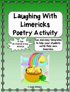 St. Patrick's Day Fun - Laughing With Limericks!  FREE! $0 ~Pinned by www.FernSmithsClassroomIdeas.com