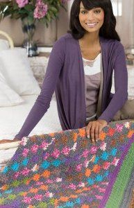 Crocheted Amish Quilt-Inspired Throw #pattern