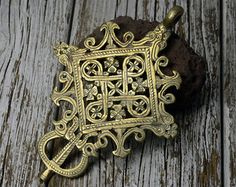 Unusual cross pendant Ethiopian by Shimbra on Etsy