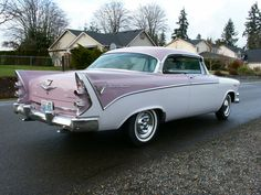 Pretty in Pink...Baby pink dreamy car! Dodge Custom Royal!