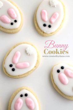 bunny cookies www.createdbydiane.com